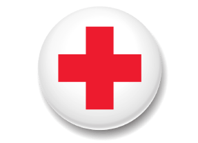 Red Cross on white background
